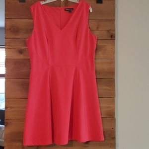Coral dress.  16